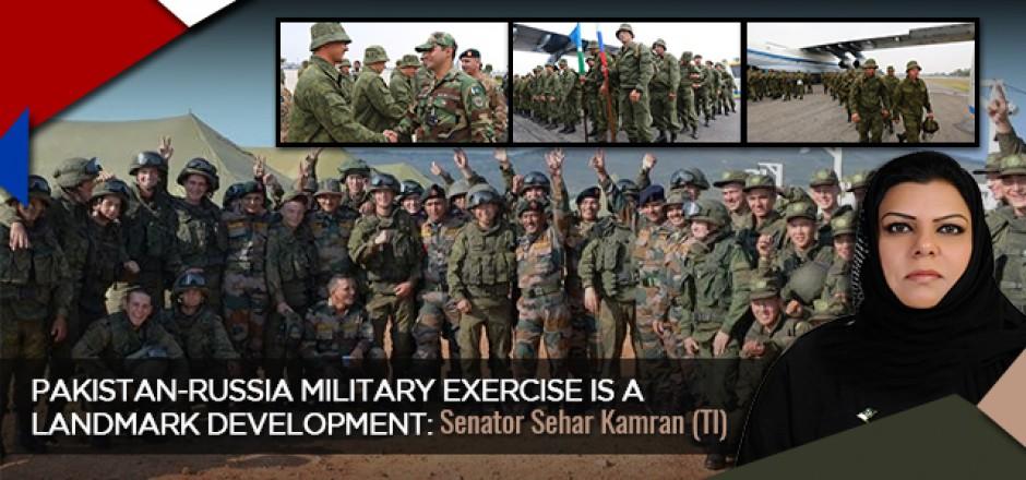Pakistan-Russia Military Exercise is a Landmark Development: Senator Sehar Kamran (TI)