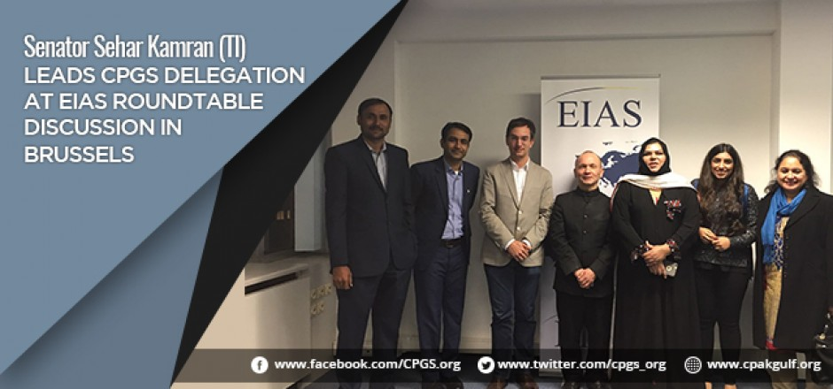 Senator Sehar Kamran (TI) leads CPGS Delegation at EIAS Roundtable Discussion in Brussels